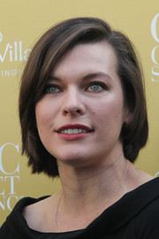 Milla Jovovich opted for a casual bob when she attended the Wertheim Village 10th anniversary celebration.