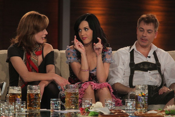 More Pics of Katy Perry Bodysuit (5 of 53) - Pajamas & Intimates Lookbook - StyleBistro [fashion,event,drink,recreation,distilled beverage,dinner,brown hair,games,wetten dass,munich,germany,olympiahalle,milla jovovich,michael mittermeier,katy perry]