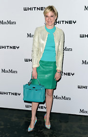 Julie Macklowe chose this pearl jacket for her look at the Whitney Museum Annual Party.