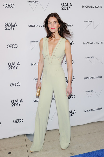 More Pics of Hilary Rhoda Jumpsuit (2 of 8) - Suits Lookbook - StyleBistro [clothing,fashion model,shoulder,dress,fashion,pantsuit,leg,suit,joint,design,hilary rhoda,whitney museum celebrates annual spring gala,michael kors,whitney museum,new york city,studio party,audi,spring gala]