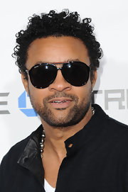 Shaggy rocked dark shades on the red carpet in Hollywood.