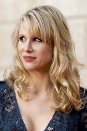 Lucy Punch wore her hair in an ultra-feminine curly 'do at the premiere of 'You Will Meet a Tall Dark Stranger.'