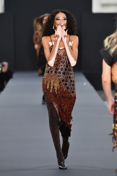 Winnie Harlow Beaded Dress