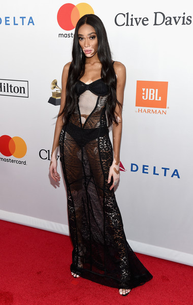 Winnie Harlow Sheer Dress