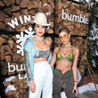 Kendall Jenner and Hailey Baldwin at Winter Bumbleland