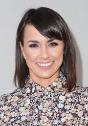 Constance Zimmer stuck to her usual shoulder-length cut with bangs when she attended the Wolk Morais debut fashion show.