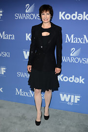 A sequined blazer added a touch of sparkle to Gale Ann Hurd's red carpet look at the Crystal + Lucy Awards.