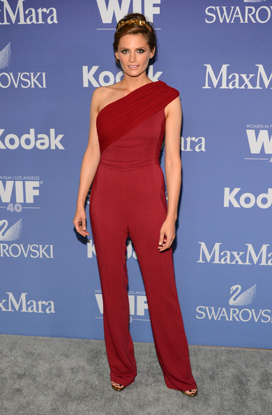 50bd3d7129a Stana Katic in MaxMara - The Chicest Red Carpet Jumpsuits - StyleBistro