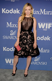 A black lace frock kept Francesca Eastwood's look soft and romantic.