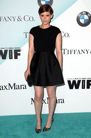 Kate Mara jazzed up her LBD with a pair of camo pumps by Bionda Castana.