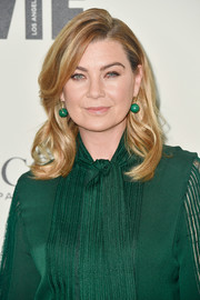 Ellen Pompeo looked sweet and chic wearing this wavy hairstyle at the 2018 Crystal + Lucy Awards.