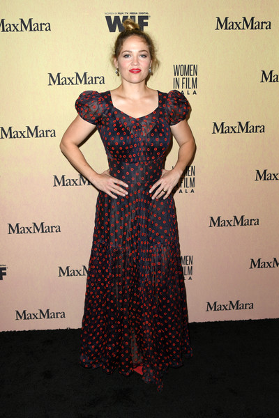 Erika Christensen looked charming in a floral gown with puffed sleeves at the 2019 Women in Film Gala.