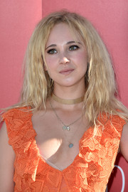 Juno Temple rocked a teased hairstyle at the Venice Film Fest photocall for 'Women's Tales.'