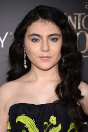 Lilla Crawford looked ultra girly with her long, thick curls at the premiere of 'Into the Woods.'