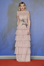 Kirsten Dunst went the sweet route in a tiered blush polka-dot gown by Rodarte at the Venice Film Festival premiere of 'Woodshock.'