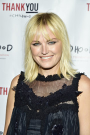Malin Akerman looked cute wearing this straight, shoulder-length 'do with flippy ends and wispy bangs at the Thank You Gala.