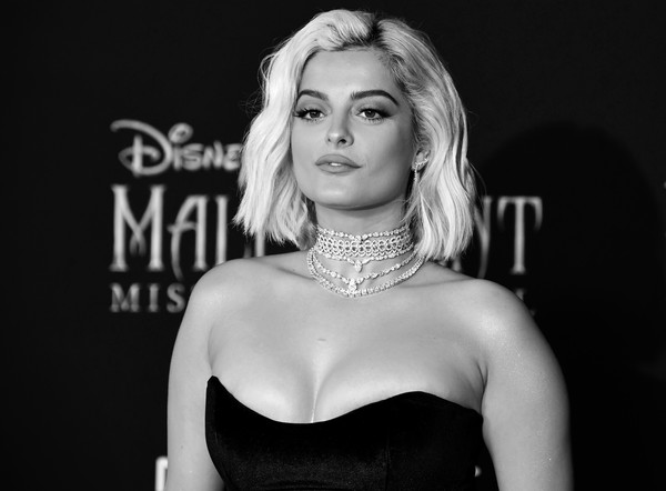 More Pics of Bebe Rexha Strappy Sandals (1 of 13) - Heels Lookbook - StyleBistro [maleficent: mistress of evil,image,hair,black-and-white,beauty,blond,lip,lady,eyebrow,model,monochrome photography,fashion,arrivals,bebe rexha,editors note,\u0153maleficent,el capitan theatre,los angeles,world premiere of disney,world premiere]