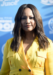 Garcelle Beauvais styled her hair with subtle waves for the world premiere of 'Finding Dory.'