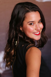 Rhiannon Fish looked sweet at the 'World War Z' Australian premiere with her corkscrew curls.