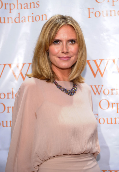 heidi klum hair color. Heidi Klum attends Worldwide