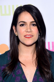 Abbi Jacobson wore a side-parted long hairstyle to the Worldwide Orphans 11th Annual Gala.