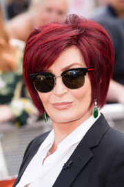 Sharon Osbourne rocked a teased short 'do with side-swept bangs at the 'X Factor Bootcamp' auditions.