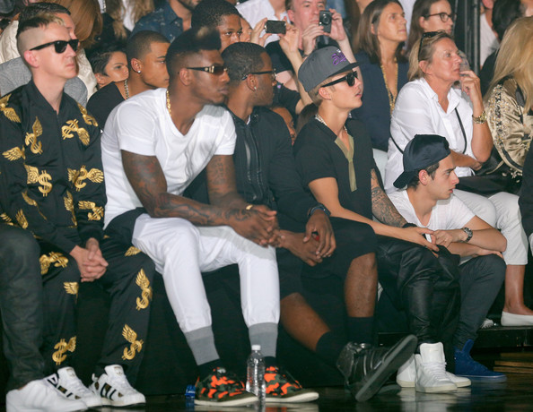 More Pics of Justin Bieber Short Emo Cut (3 of 12) - Justin Bieber Lookbook - StyleBistro [event,uniform,team,jeremy scott,players,john wall,iman shumpert,front row,l-r,y-3,nba,mercedes-benz fashion week,runway show]