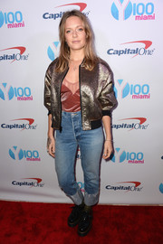 Tove Lo pulled her outfit together with chunky black patent lace-ups.