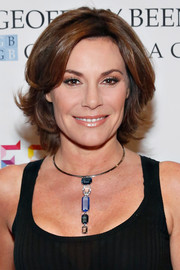 LuAnn de Lesseps wore her hair in an elegant razor cut at the YMA Fashion Scholarship Fund Gala.