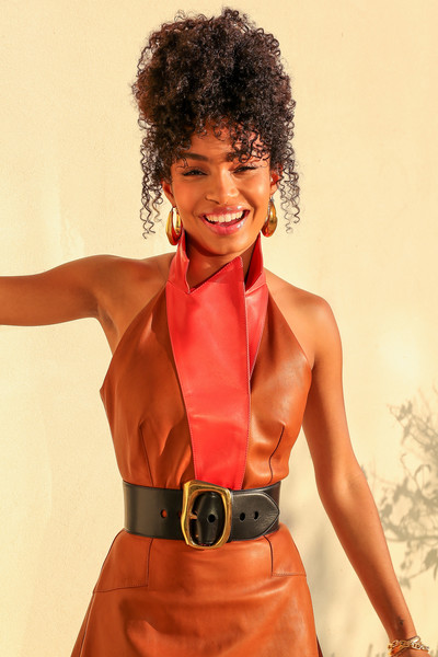 Yara Shahidi Oversized Belt [photo shoot,cnn heroes,image,clothing,brown,hairstyle,jheri curl,shoulder,style,dress,orange,ringlet,fashion,yara shahidi bts,yara shahidi,appearance,appearance,hair coloring,hair,wig,wig,afro,hair coloring,fashion,brown hair,hair,dos gardenias stein square neck bralette bikini top,hair,model m keyboard,color]