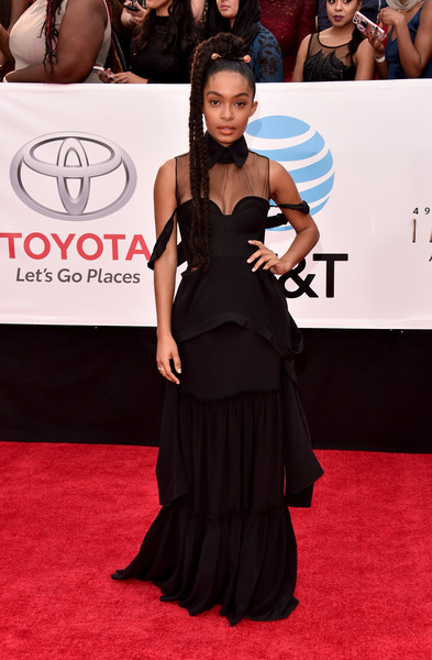 Yara Shahidi Corset Dress
