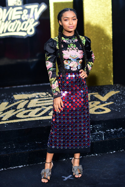 Yara Shahidi Pencil Skirt