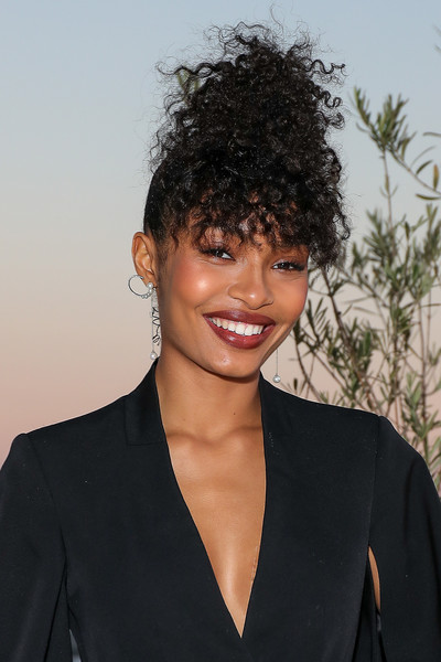 Yara Shahidi Curly Updo [photo shoot,image,clothing,lip,hairstyle,chin,forehead,eyebrow,jheri curl,collar,facial expression,style,yara shahidi bts,yara shahidi,appearance,the trumpet awards,appearance,hair,fashion,photoshoot,long hair,bangs,hair m,fashion,black hair,hair,dos gardenias stein square neck bralette bikini top,beauty.m,02pd - circolo del partito democratico di milano]