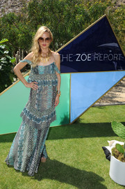 Rachel Zoe looked very summery in a loose mixed-print cami from her own label during the ZOEasis event.