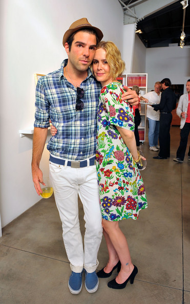 Zachary Quinto Boat Shoes [clothing,fashion,event,fun,plaid,jeans,footwear,design,pattern,fashion design,jessica lange,sarah paulson,zachary quinto,exclusive,santa monica,california,the rose gallery,reception]