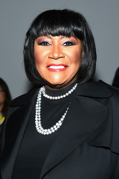 Patti LaBelle wore her hair in a bob with choppy bangs at the Zang Toi fashion show.