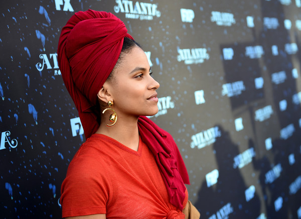 Zazie Beetz Gold Dangle Earrings