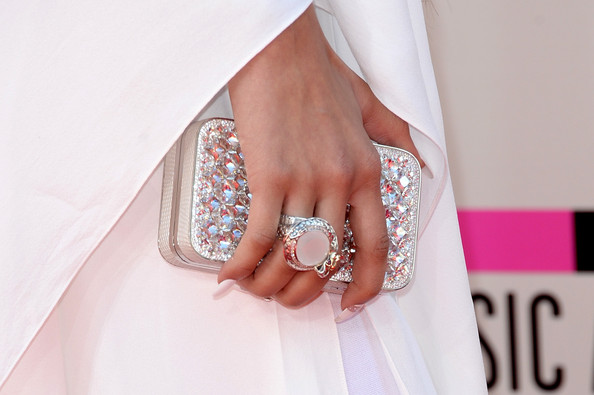 Zendaya Coleman Cocktail Ring [nail,finger,pink,dress,fashion accessory,fashion,jewellery,hand,ring,bridal accessory,arrivals,zandaya,american music awards,fashion detail,california,los angeles,nokia theatre l.a. live]