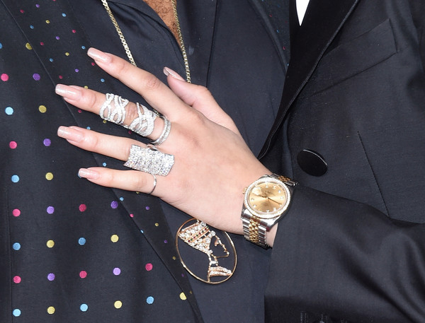 Zendaya Coleman Statement Ring [jewellery,finger,nail,ring,hand,fashion accessory,fashion,nail care,arrivals,zendaya,grammy awards,jewelry detail,california,los angeles,staples center,58th grammy awards]