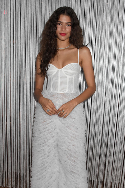 Zendaya Coleman Diamond Ring [clothing,dress,white,gown,wedding dress,shoulder,bridal party dress,lady,bridal clothing,photo shoot,zendaya,forevermark nyc event,event,forevermark tribute,new york city]