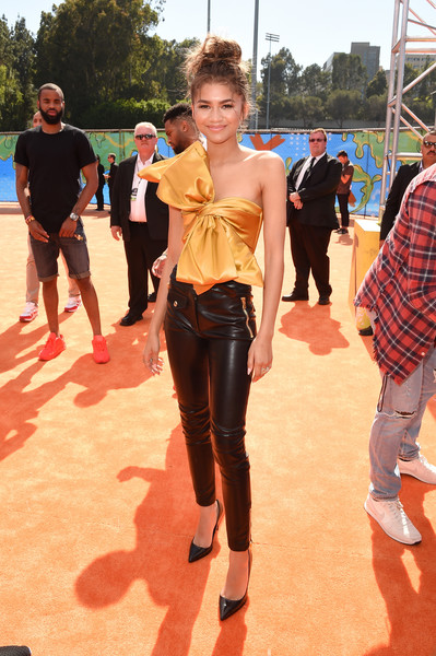 Zendaya Coleman Leather Pants