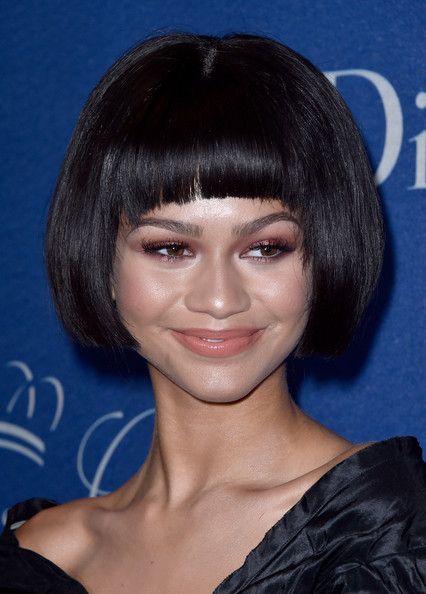 Zendaya Coleman Bob [hair,face,hairstyle,bangs,chin,eyebrow,head,black hair,forehead,bob cut,arrivals,zendaya,beverly hills,california,beverly wilshire four seasons hotel,princess grace awards,christian dior couture,princess grace awards gala]