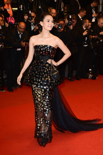 Zhang Ziyi Strapless Dress