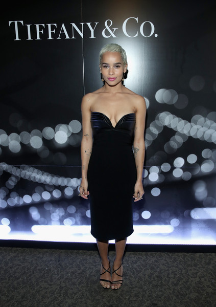 Zoe Kravitz Strapless Dress