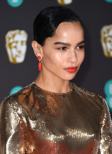 Zoe Kravitz Finger Wave [hair,hairstyle,fashion,lip,beauty,skin,fashion model,fashion show,premiere,black hair,zoe kravitz,british academy film awards,earring detail,ee,england,london,royal albert hall,red carpet arrivals,zo\u00eb kravitz,73rd british academy film awards,the brave one,celebrity,photography,livingly media,image,actor,red carpet,2020]