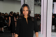 Zoe Saldana Leather Clutch