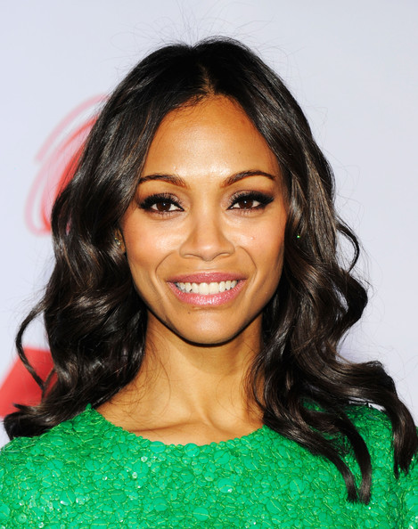 Zoe Saldana False Eyelashes