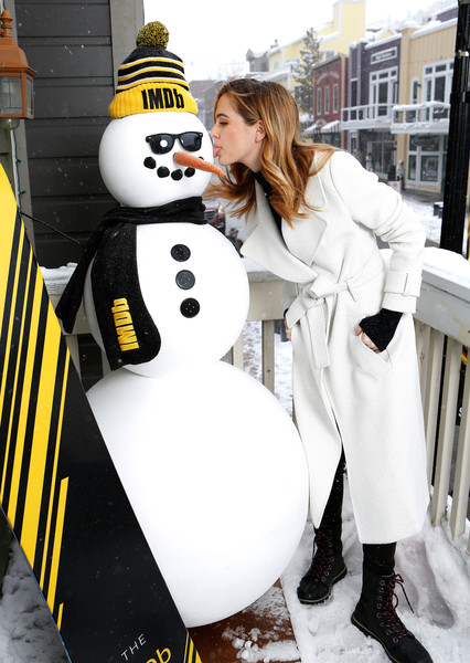 Zoey Deutch Snow Boots [before i fall,snowman,snow,winter,freezing,zoey deutch,park city,filmmaker discovery lounge,utah,imdb studio,sundance film festival featuring the filmmaker discovery lounge,amazon video direct: day one]