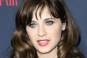 Zooey Deschanel Medium Curls with Bangs