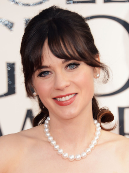 Zooey Deschanel Cultured Pearls
